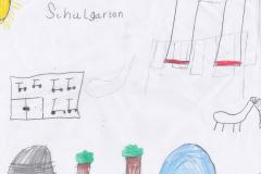 Nele (8) Schulgarten