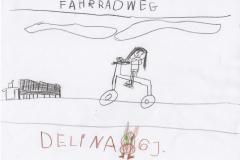 Delina (6) Fahrradweg