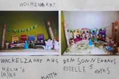 Estelle (5) Helin (6) Lejla (6) Matti (6) Maya (5) Wochenmarkt in Heuchelheim
